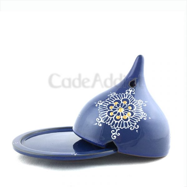 brûleur de cade motif lou bleu denim ouvert